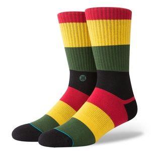 🆕 Stance Matal Rasta Striped Crew Socks Mens Large 9-12